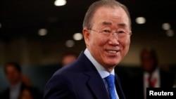 Uwahoze ari umunyamabanga mukuru wa ONU, Ban Ki-moon i New York, kw'itariki ya 24/09/2019