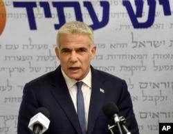 İsrail'de Yesh Atid (Gelecek Var) Partisi lideri Yair Lapid