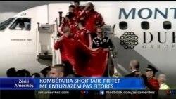 Pritje madheshtore per ekipin shqiptar