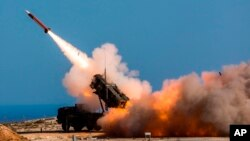 """Фото Міністерства оборони США. Навчальний залп із системи """"Патріот"""""""