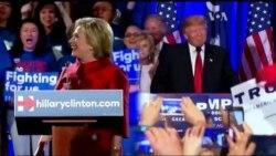 Клінтон та Трамп задоволені результатами у Неваді. Відео