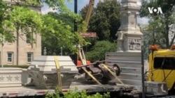 抗議種族歧視示威活動中多個邦聯紀念雕像被推倒