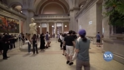 У Нью-Йорку, після майже півроку карантину, поволі відкриваються музеї. Відео