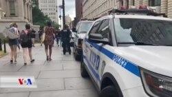 خۆپـیشاندان لە نیویۆرک بۆ داوای کەمکردنەوەی بوجەی پـۆلیس