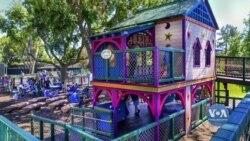 Українка створила у Каліфорнії унікальний дитячий майданчик. Відео