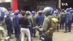 Police Beating Up MDC Activists