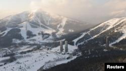 A ski resort in Shimukappu is seen in Hokkaido, Japan, in this photo taken Feb. 10, 2009.