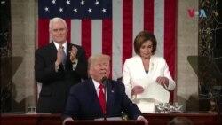 ٹرمپ نے ہاتھ نہیں ملایا، پلوسی نے تقریر پھاڑ ڈالی
