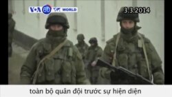 Ukraina huy động quân đội trước sự hiện diện của Nga ở Crimea (VOA60)