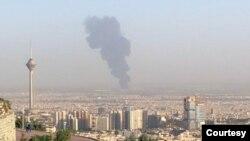 آتشسوزی پالایشگاه نفت در تهران - آرشیو