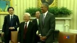 2015-07-08 美國之音視頻新聞:奧巴馬與越共總書記進行歷史性會面