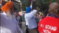 ہیوسٹن: بھارتی وزیرِ اعظم کے جلسے کے نزدیک احتجاج