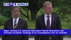 VOA60 Africa - Shanahan Accepts Findings in 2017 Niger Ambush of US Forces