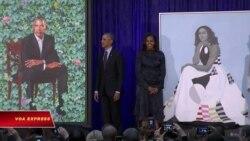 Ra mắt bức họa chân dung vợ chồng ông Obama