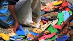 Вторая жизнь резиновых сандалий