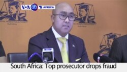 VOA60 Africa - South Africa: Top prosecutor drops fraud charges against Finance Minister Pravin Gordhan