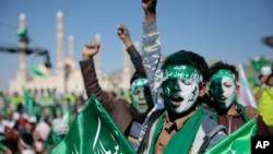 """Ribuan warga Syiah melakukan perayaan """"Maulid"""" di Sanaa, Yaman (foto: ilustrasi)."""