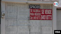 Varias viviendas han sido puestas a la venta en Nicaragua tras más de tres años de crisis política. Foto VOA.