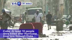 VOA60 World - Hurricane Irma kills at least ten in Cuba