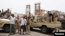 Tentara kelompok separatis di Aden, Yaman selatan yang didukung oleh Uni Emirat Arab (foto: dok).