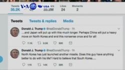 VOA60 America - President Trump Criticizes Kim Jong Un After Latest Missile Launch
