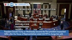 VOA60 Ameerikaa - US House Impeaches President Trump for Inciting Deadly Capitol Riot