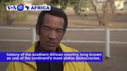 VOA60 Africa - Botswana: The country prepares for an upcoming election on Wednesday