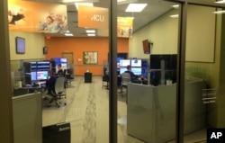 FILE - A telemedicine hub, run by Avera Health, is seen in Sioux Falls, South Dakota, June 22, 2015.