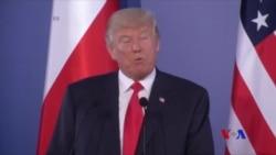 川普講話稱讚波蘭堅持追求民主 (粵語)