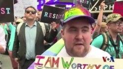 美国人抗议川普禁止跨性别者参军
