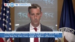 VOA60 America - U.S. to begin airlifting from Afghanistan thousands of people who helped support American forces