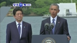 VOA60 America - Pearl Harbor Victims Honored by Obama, Japan's PM Abe