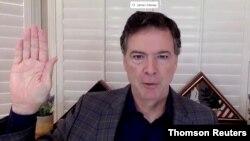 El exdirector del FBI, James Comey, testifica ante la Comisión Judicial del Senado, el 30 de septiembre de 2020, sobre la investigación acerca de la posible interferencia rusa en las elecciones de EE. UU. de 2016.