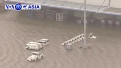 3.000 người mắc kẹt vì bão Jebi bắt đầu về nhà