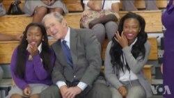 卡特里娜飓风十周年 小布什重返新奥尔良灾区