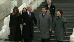 استقبال گرم مقام های چین از پرزیدنت ترامپ و بانوی اول