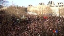 2015-01-11 美國之音視頻新聞: 巴黎百萬人舉行反恐大游行