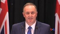 2016-12-05 美國之音視頻新聞: 紐西蘭總理突然宣佈辭職