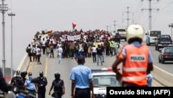 Manifestação em Luanda (Foto de Arquivo)