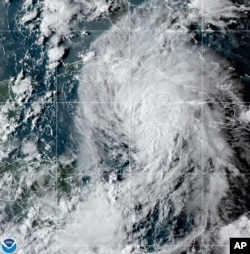 Citra satelit OES-16 East GeoColor ini diambil pada 26 Agustus 2021, menunjukkan Badai Tropis Ida di Laut Karibia. (Foto: AP)