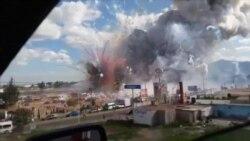 Video capta momento de las explosiones en mercado de México