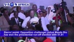 VOA60 Africa - Runner-Up in Sierra Leone Presidential Poll Will Challenge Result
