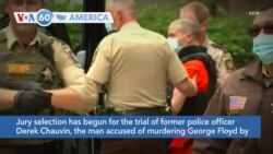 VOA60 America - Jury selection begins Monday in Derek Chauvin's trial on second-degree murder and manslaughter charges