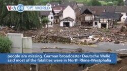 VOA60 Addunyaa - German Floods Leave at Least 100 Dead