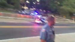 Motorcade for Pope Francis Leaves DC's Basilica