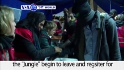 VOA60 World PM - Migrants Leave Calais 'Jungle' For Next Stops in Europe
