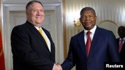 مایک پمپئو در آنگولا با رئیس جمهوری این کشور دیدار کرد