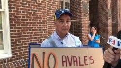 Venezolanos protestan en Washington contra elección
