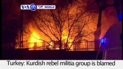 VOA60 World- Turkey PM: Ankara Bomber Syrian With Kurdish Links