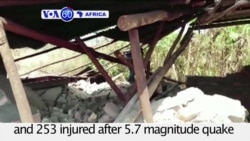 VOA60 Africa - At Least 16 Dead as Earthquake Hits Northwestern Tanzania